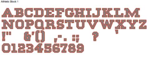 Athletic Block Full Alphabet