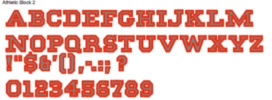 Athletic Block 2 Full Alphabet
