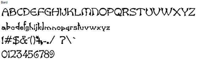 Bard Full Alphabet