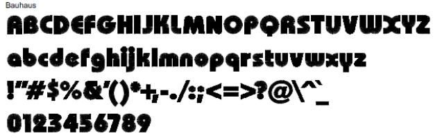 Bauhaus Full Alphabet