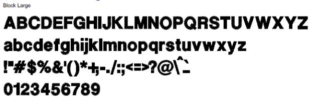 Block Large Full Alphabet