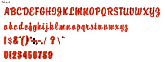 Briquet Full Alphabet