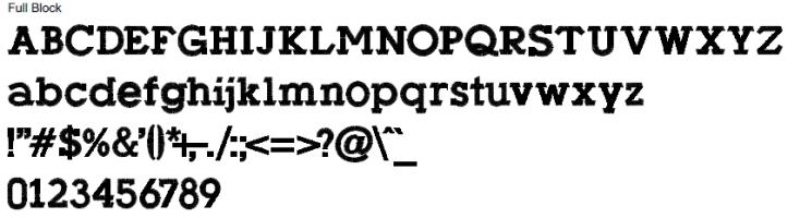 Full Block Alphabet
