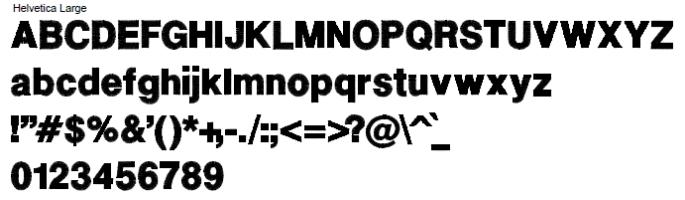 Helvetica Large Full Alphabet