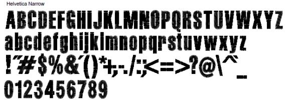 Helvetica Narrow