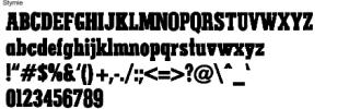 Stymie Full Alphabet
