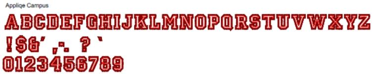 Applique Campus Full Alphabet