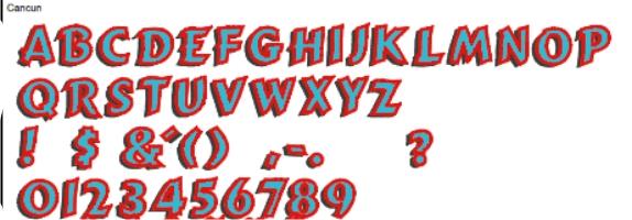 Cancun Full Alphabet
