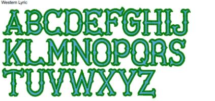 Western Lyric Full Alphabet