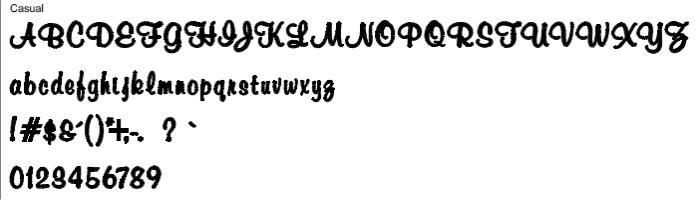 Casual Full Alphabet
