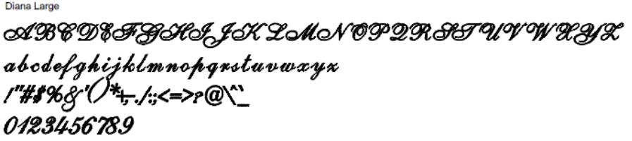 Diana Large Full Alphabet