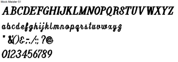 Style 51 Full Alphabet