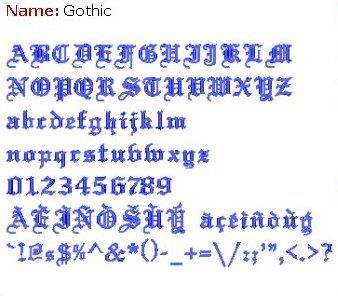 Gothic 1 Full Alphabet