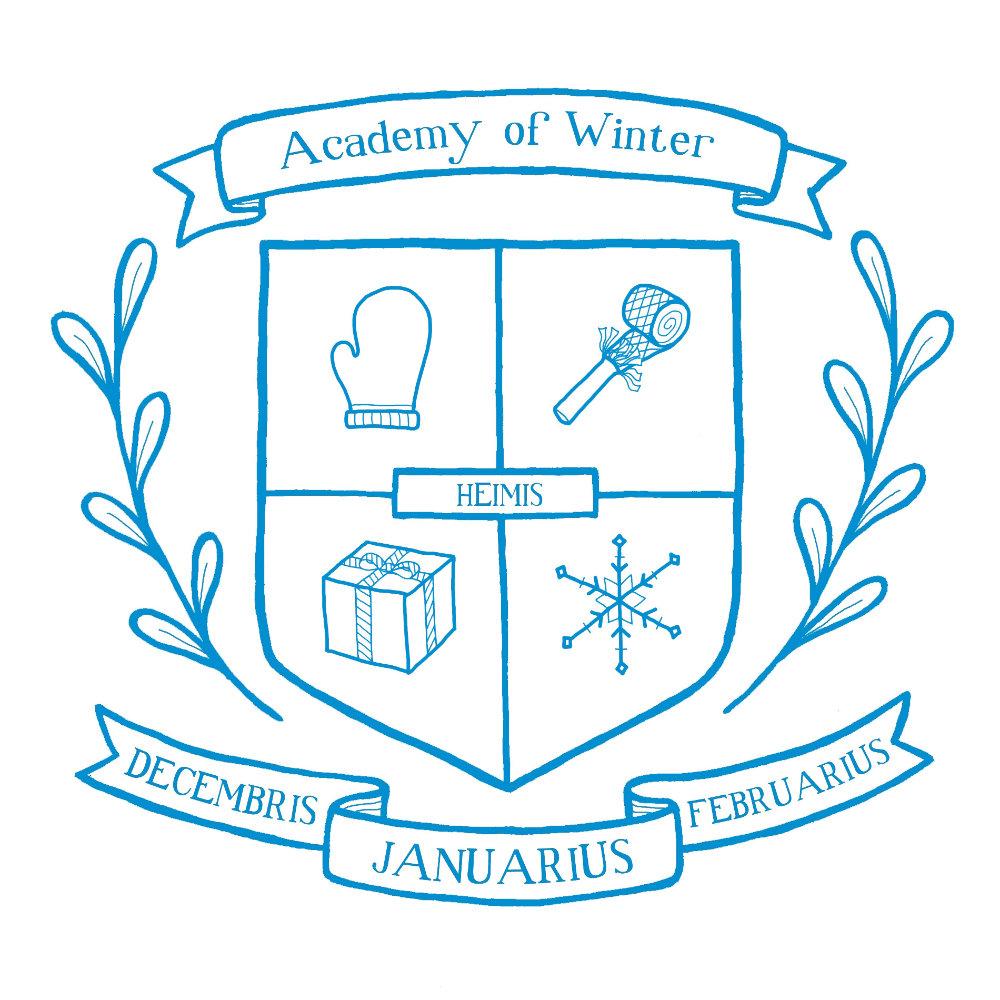 Academy of Winter - acrylic and digital illustration by Tina Jett