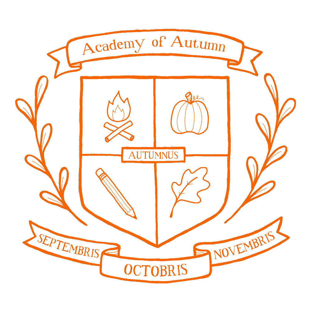 Academy of Autumn - acrylic and digital illustration by Tina Jett