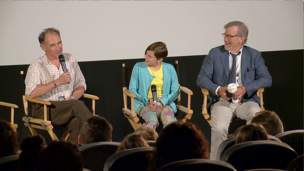 The BFG - Writer/Director: Steven Spielberg, Ruby Barnhill, and Mark Rylance surprise audiences at an advance screening