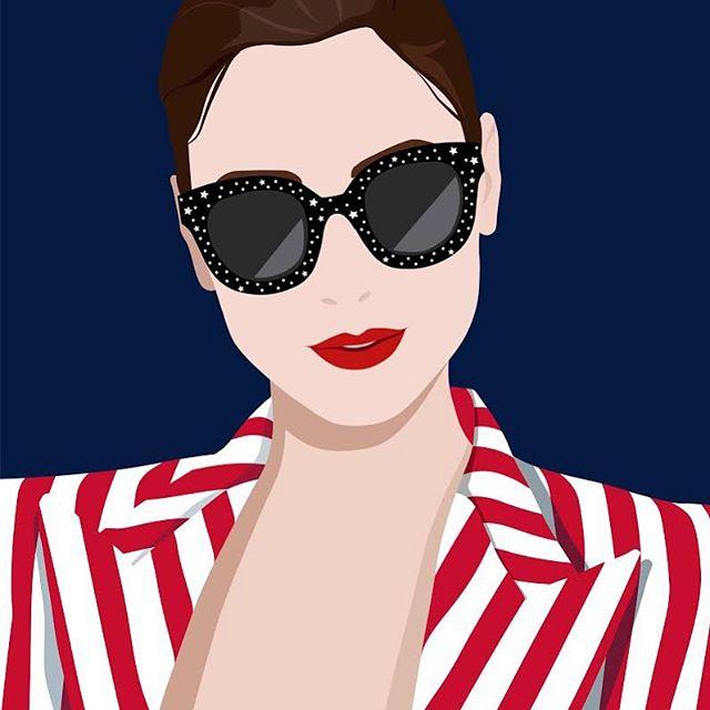 Stars and Stripes 🇺🇸 #illustrator #american #madeinusa #missamerica #fashion #style #art #carolinamelisstudio #starsandstripesstyle🇺🇸 #carolinamelis #design #graphicdesign #fashionmagazine #model #vogue #sunglasses #guccisunglasses