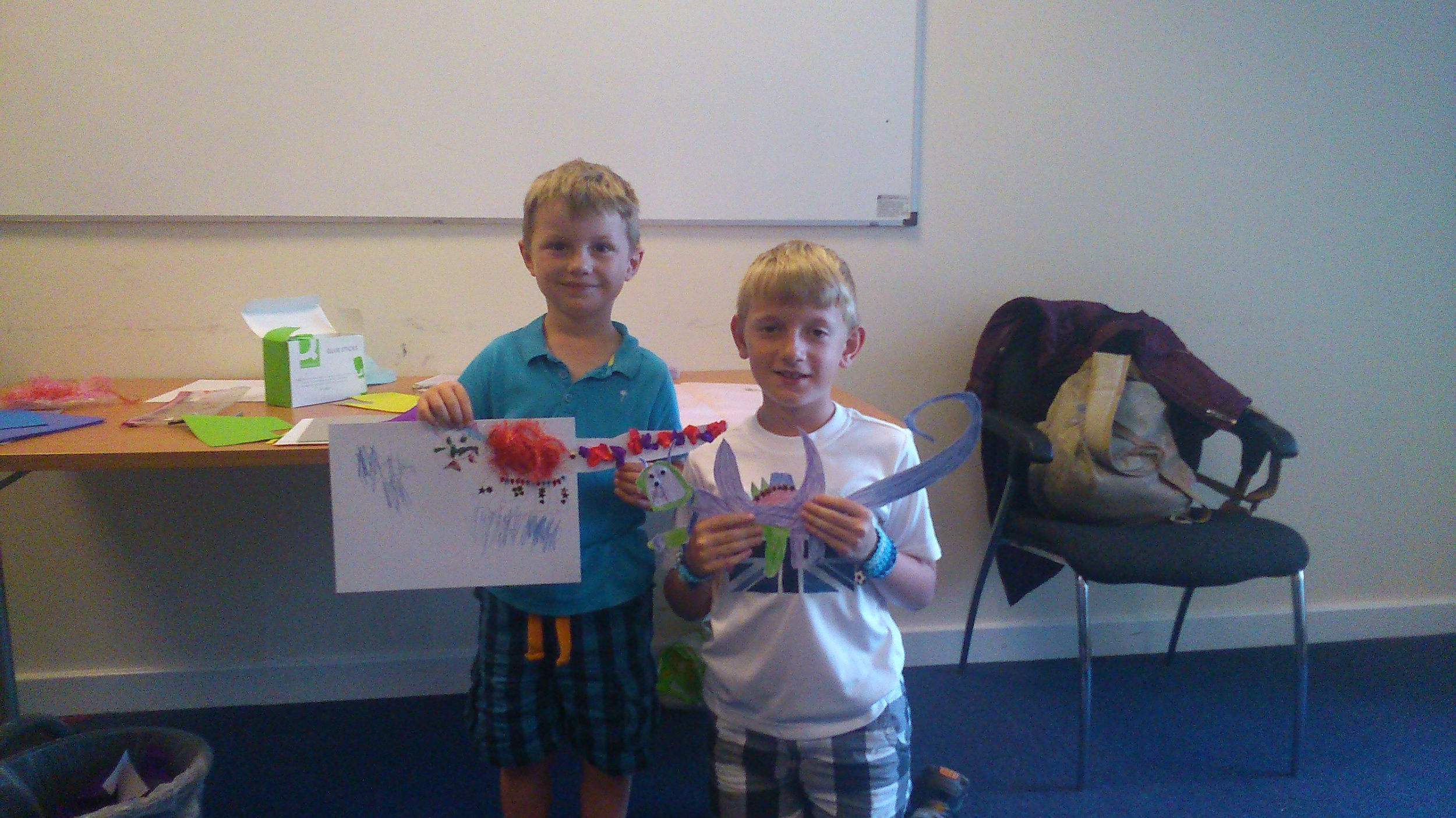 Dragon creations at Sandhill Library.
