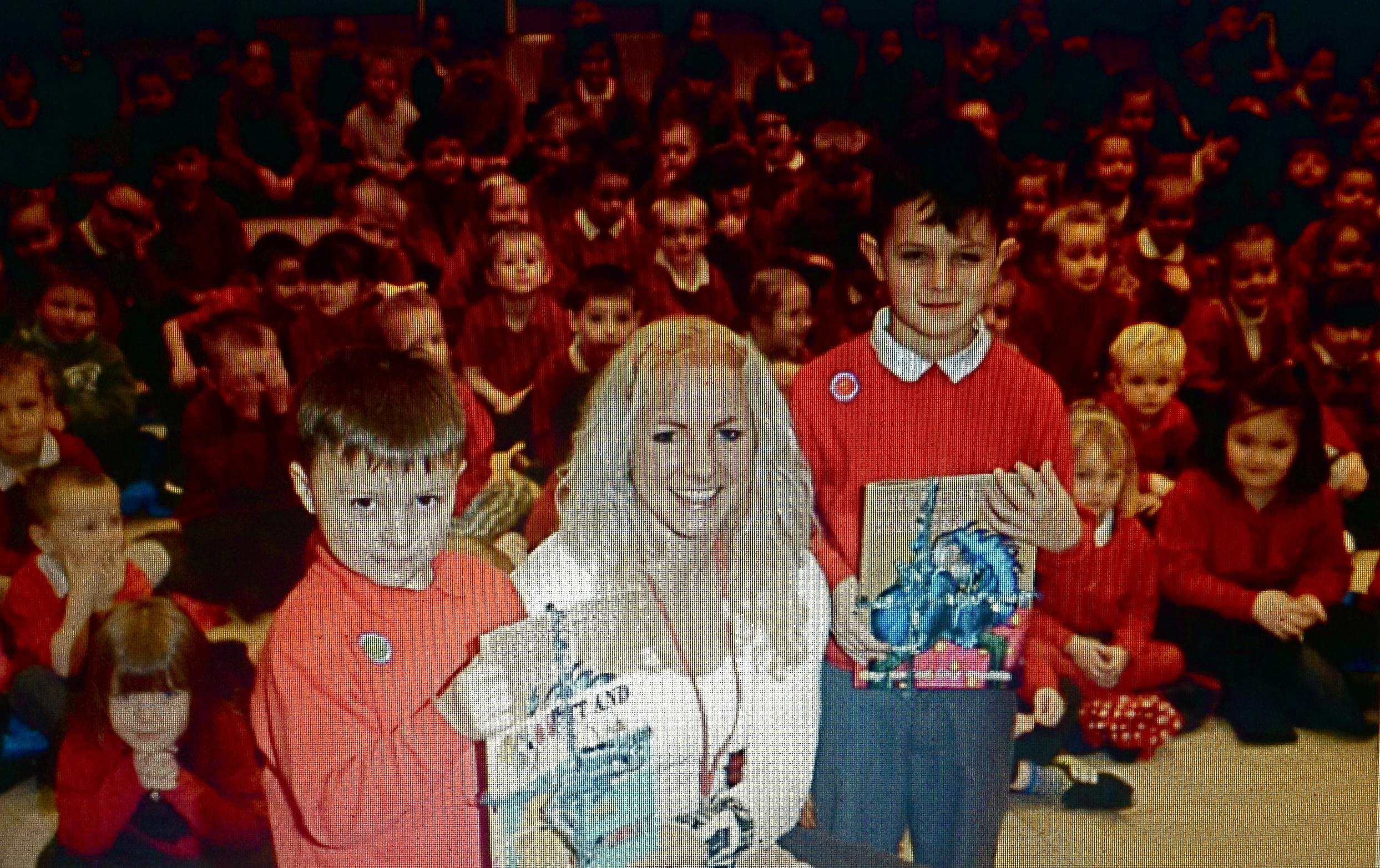 Popple with the winners of the Popple's Tales' Little Author Competition.