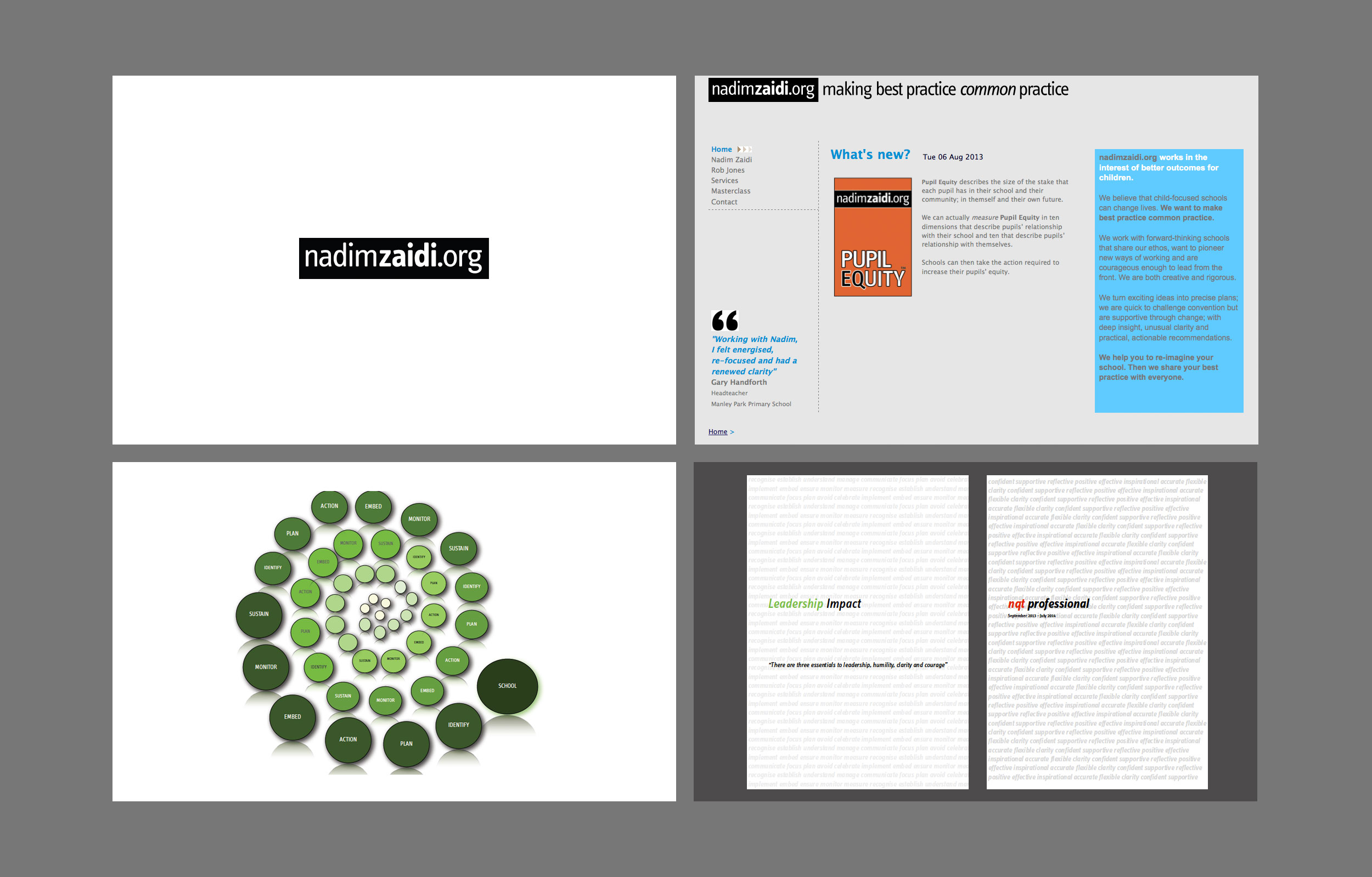 Spiral Consultings previous brand identity