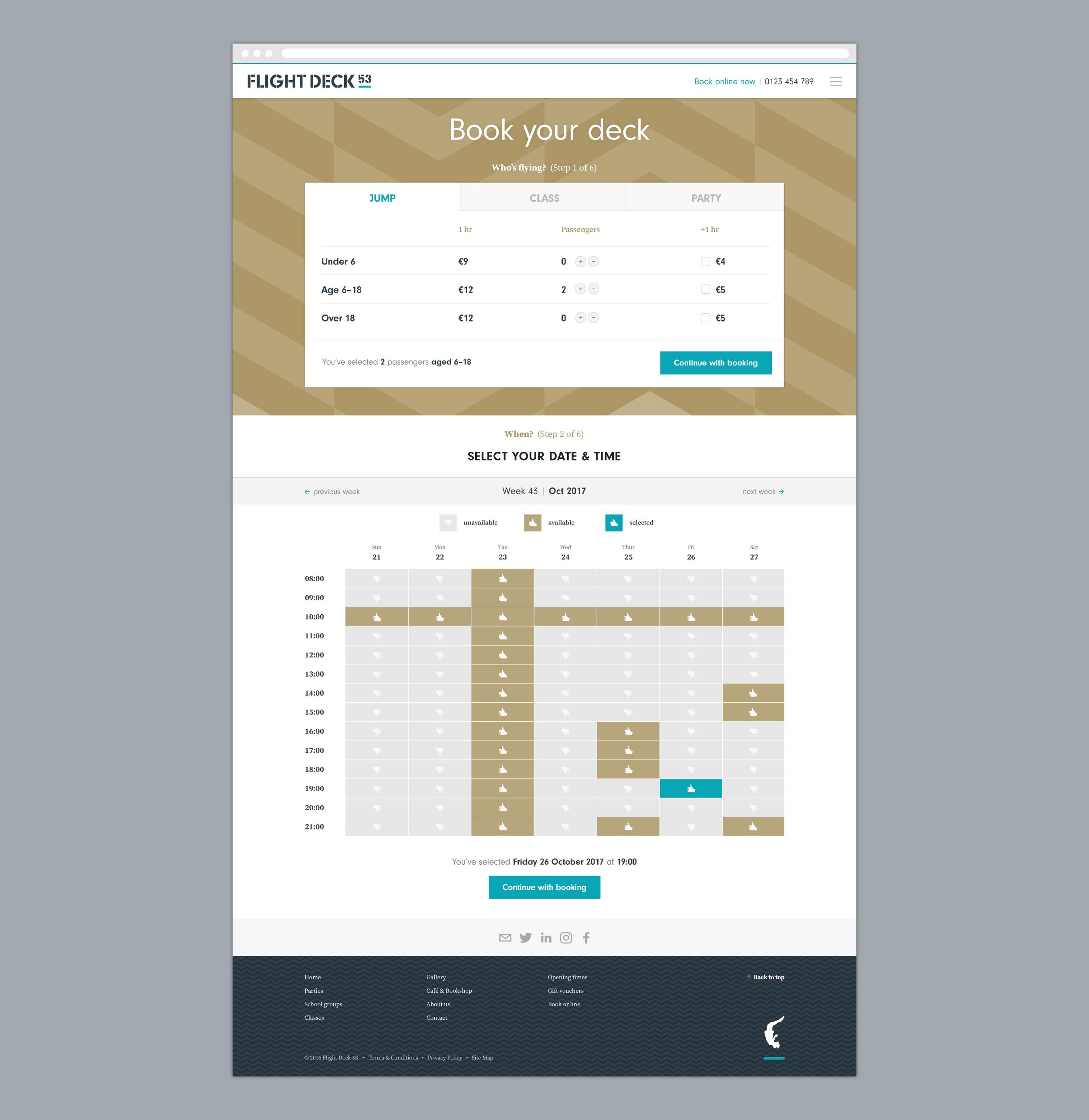 Flight Deck 53 website design visual – Design by Ian Whalley