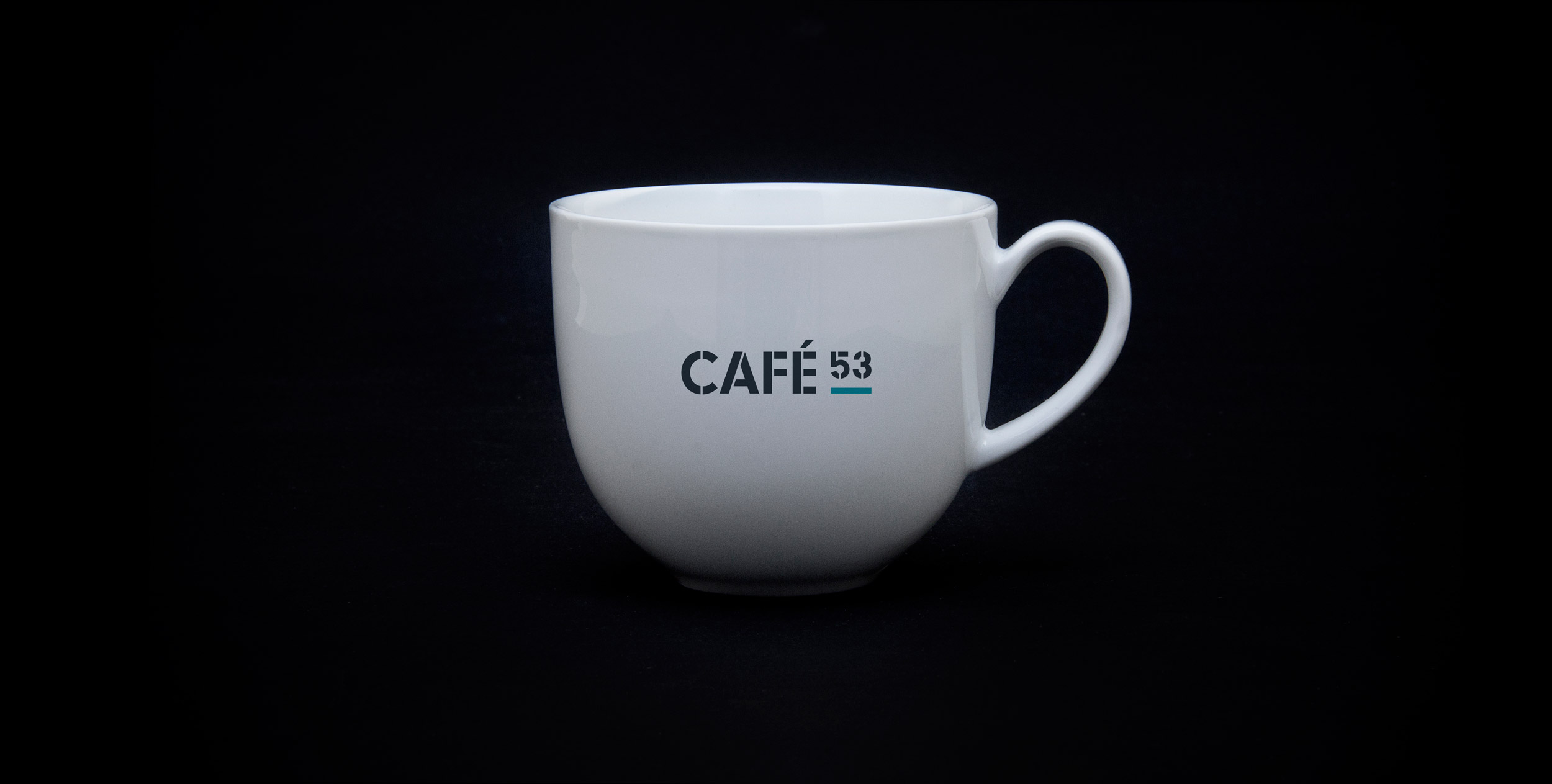 Flight Deck 53 cafe branding – Design by Ian Whalley