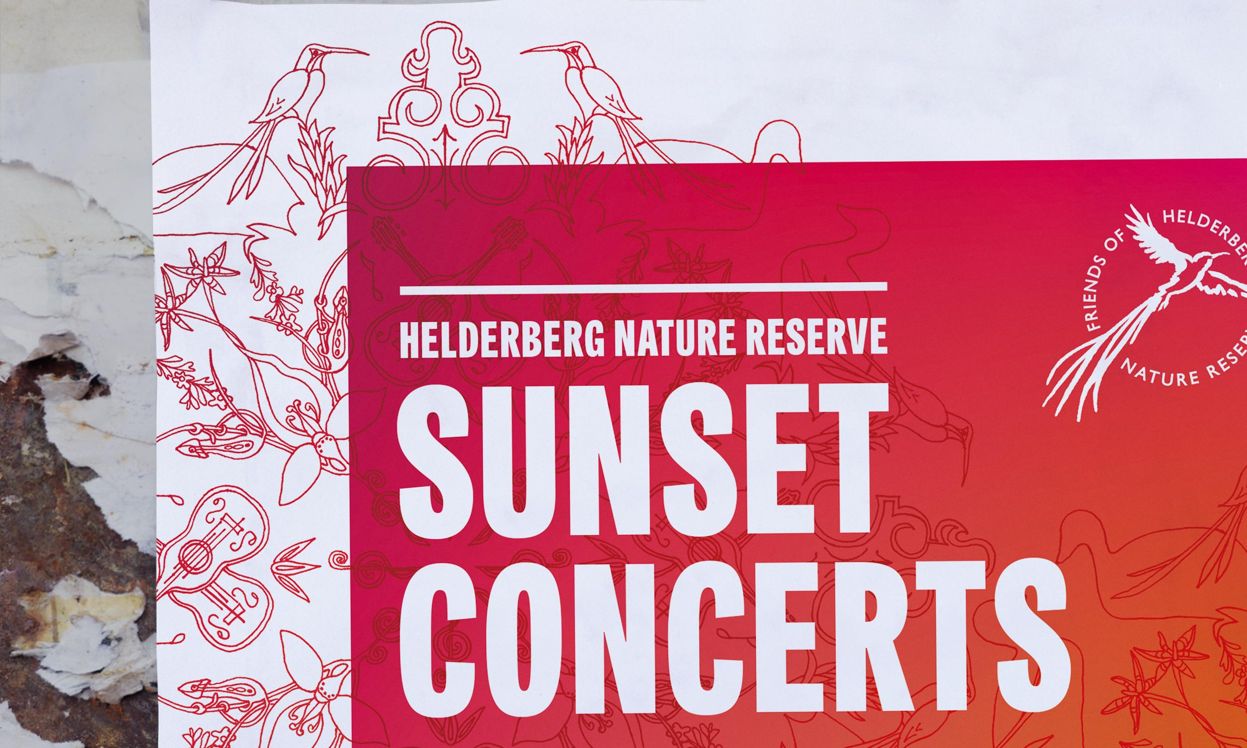 Sunset Concerts poster detail – design by Ian Whalley