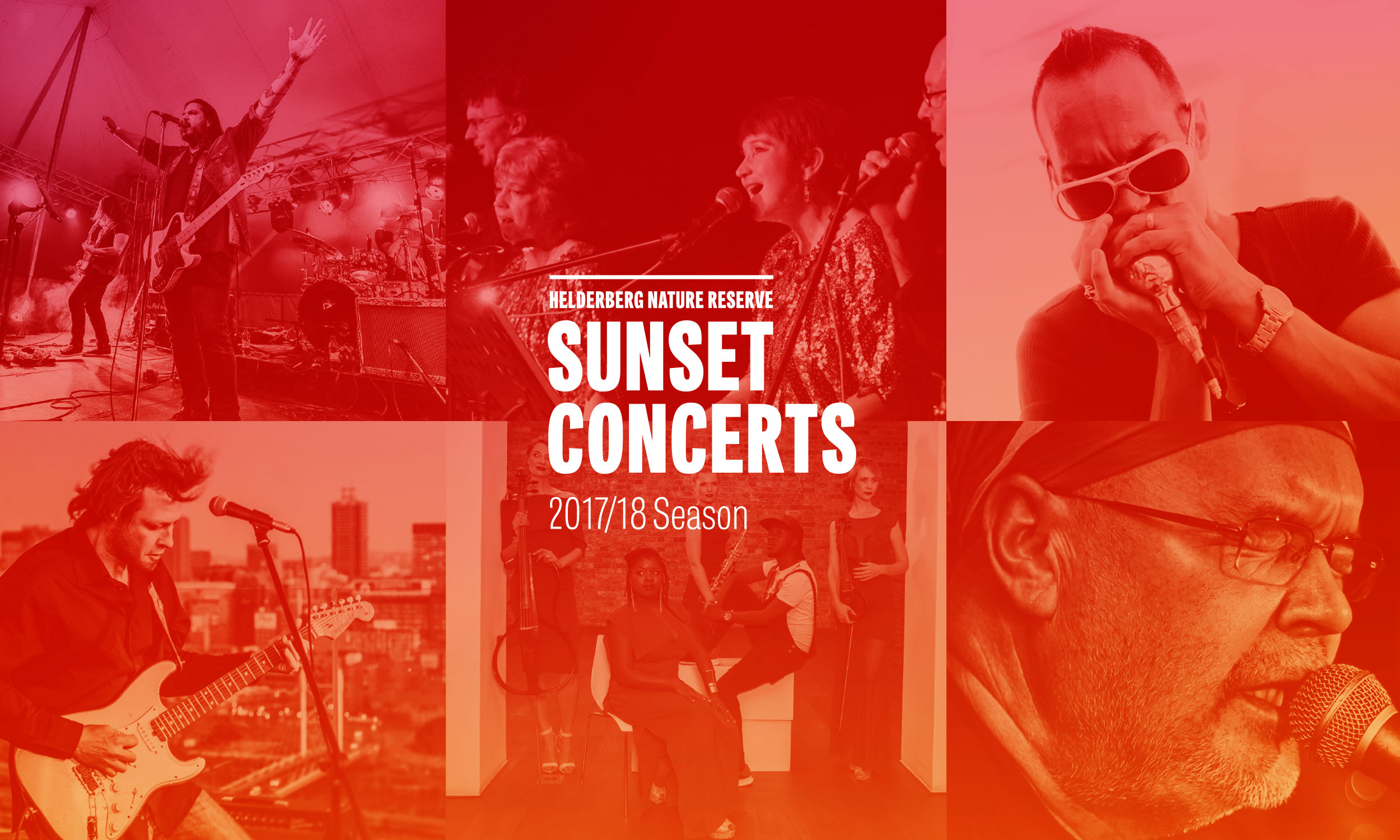 Sunset Concerts identity – design by Ian Whalley