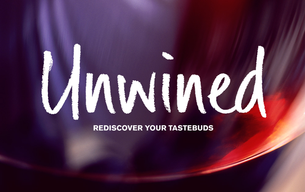 Unwined logo variants – wine – Design by Ian Whalley