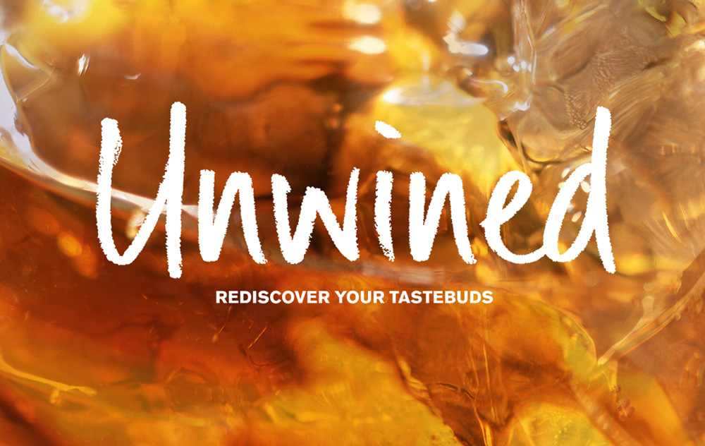 Unwined logo variants – whiskey – Design by Ian Whalley