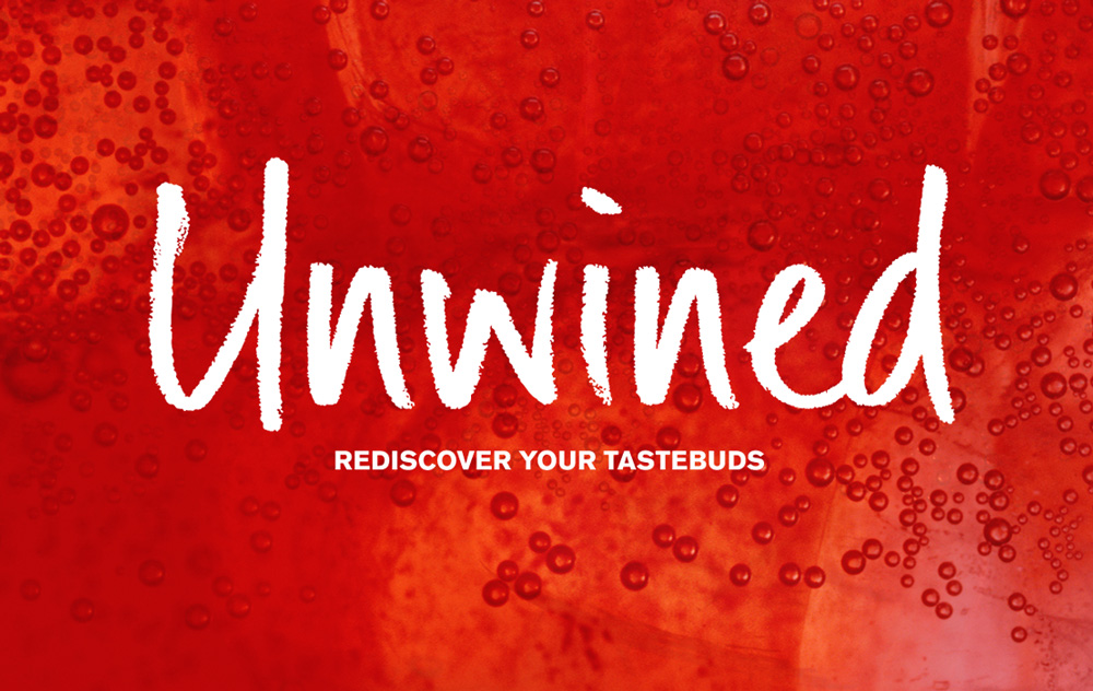 Unwined logo variants – Juice – Design by Ian Whalley