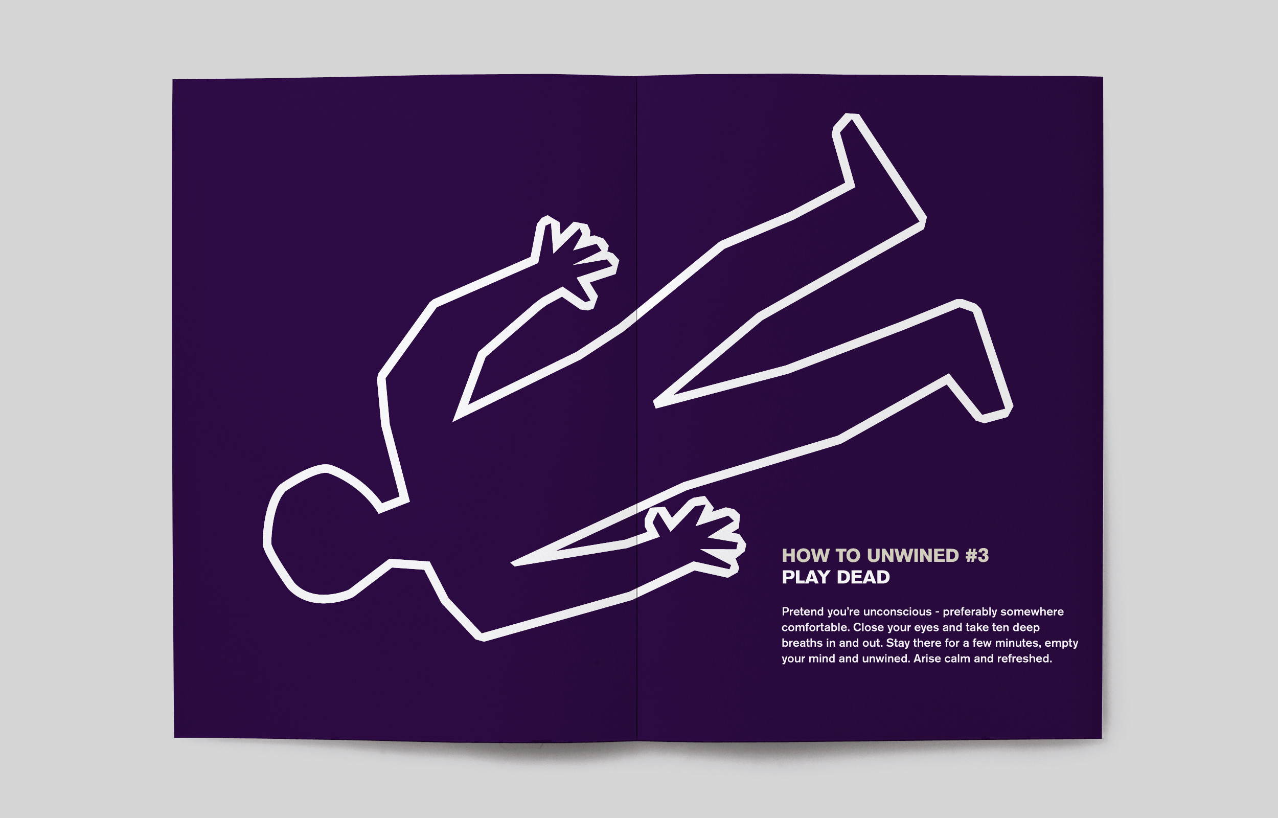 Unwined – 'How to Unwined' brochure – Design by Ian Whalley