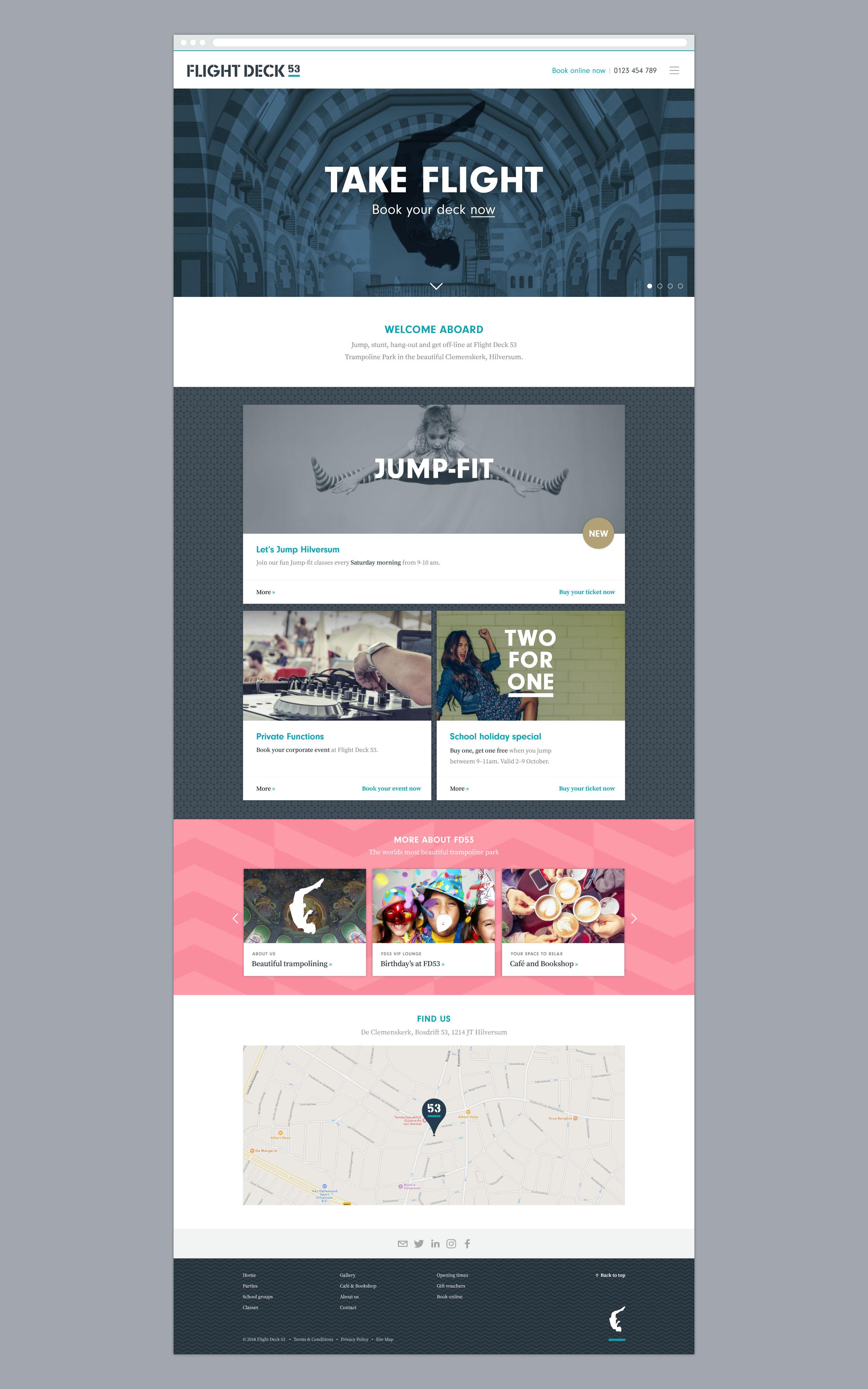 Flight Deck 53 website design concept – Design by Ian Whalley