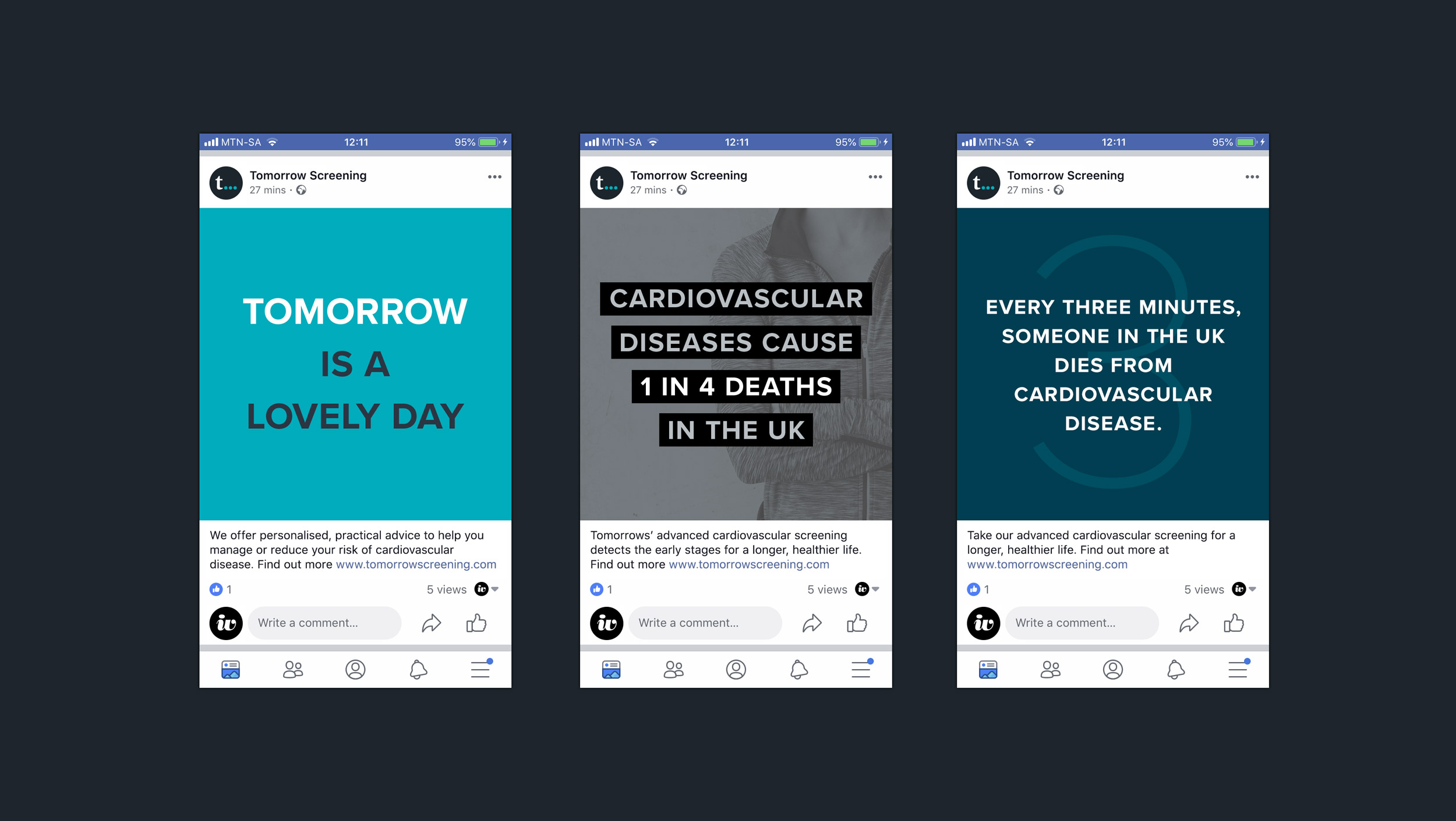 Tomorrow Screening social media graphics – design by Ian Whalley