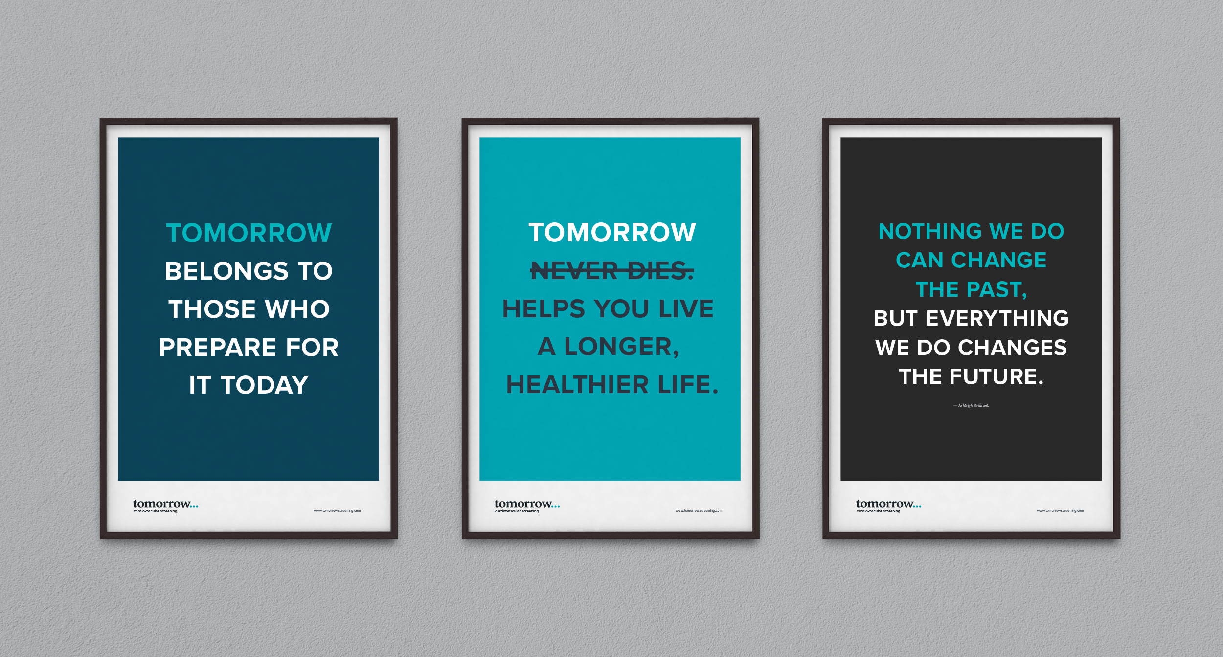 Tomorrow Screening poster set – design by Ian Whalley