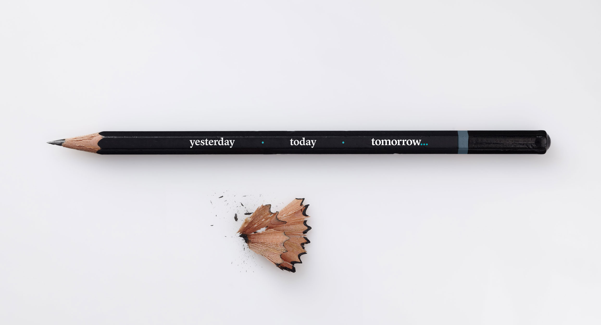 Tomorrow's promotional pencil – design by Ian Whalley