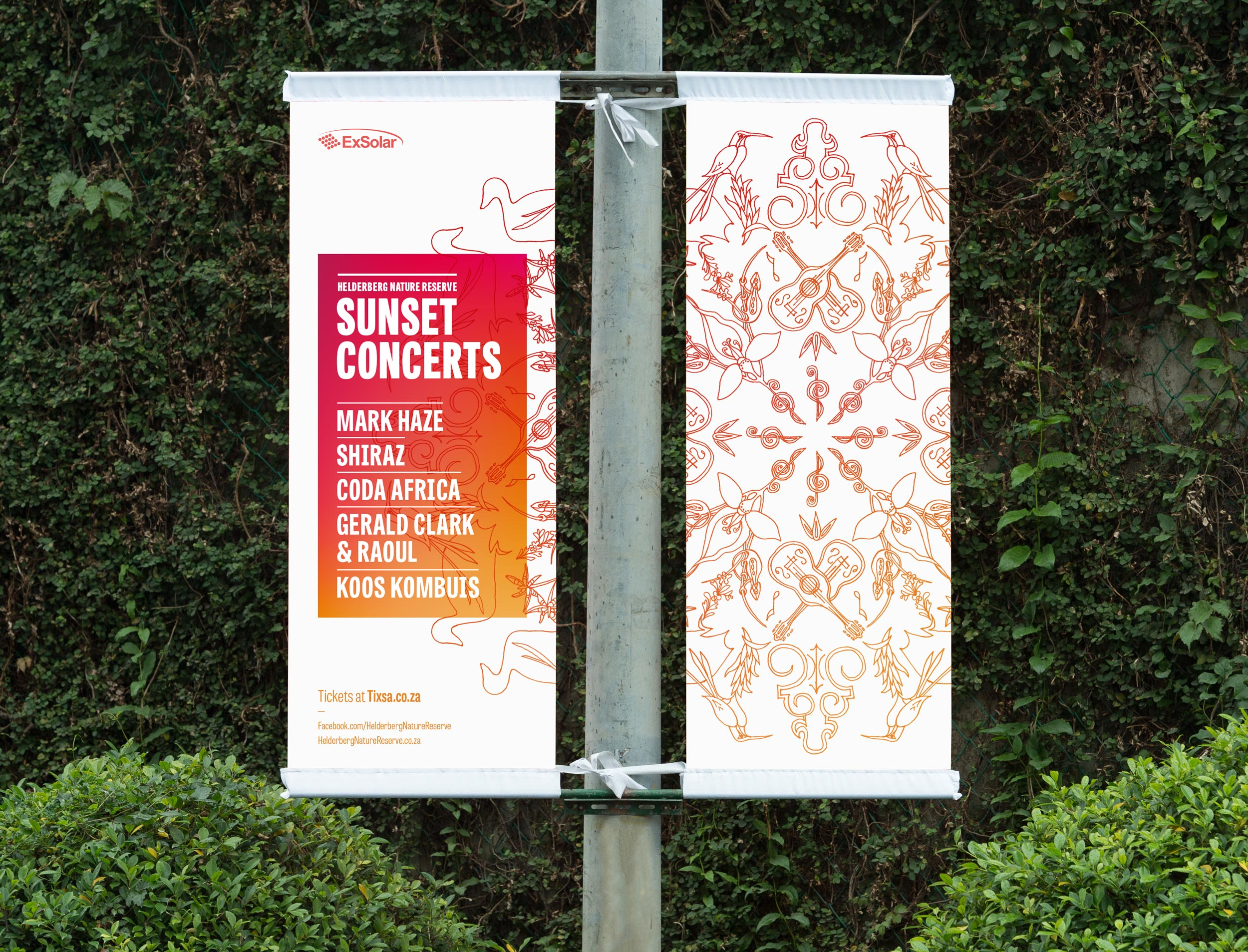 Event banners for the Helderberg Nature Reserve Sunset Concerts – by Ian Whalley