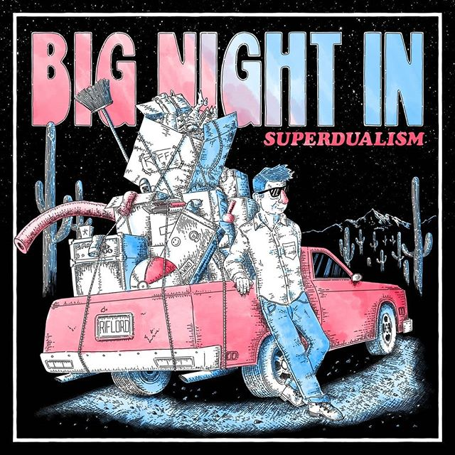 Ooh boy, today is the day! Album art illustration for my dudes' @bignightinchicago new album, Superdualism. Comes packed with 3D glasses for anaglyph 3D action in the gatefold. See them at the Burlington this Saturday if you're in Chicago ✌️ ✨Process video at the end of the gallery ✨  #illustration #drawing #albumart #chicago #theburlingtonbar #punk #イラスト #space #3d #cars #high #420 #procreate #ipadpro