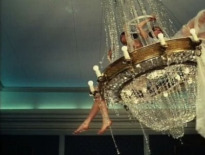Hanging from the chandelier.jpg