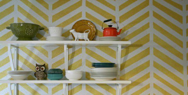 Yellow Herringbone Wallpaper.jpg