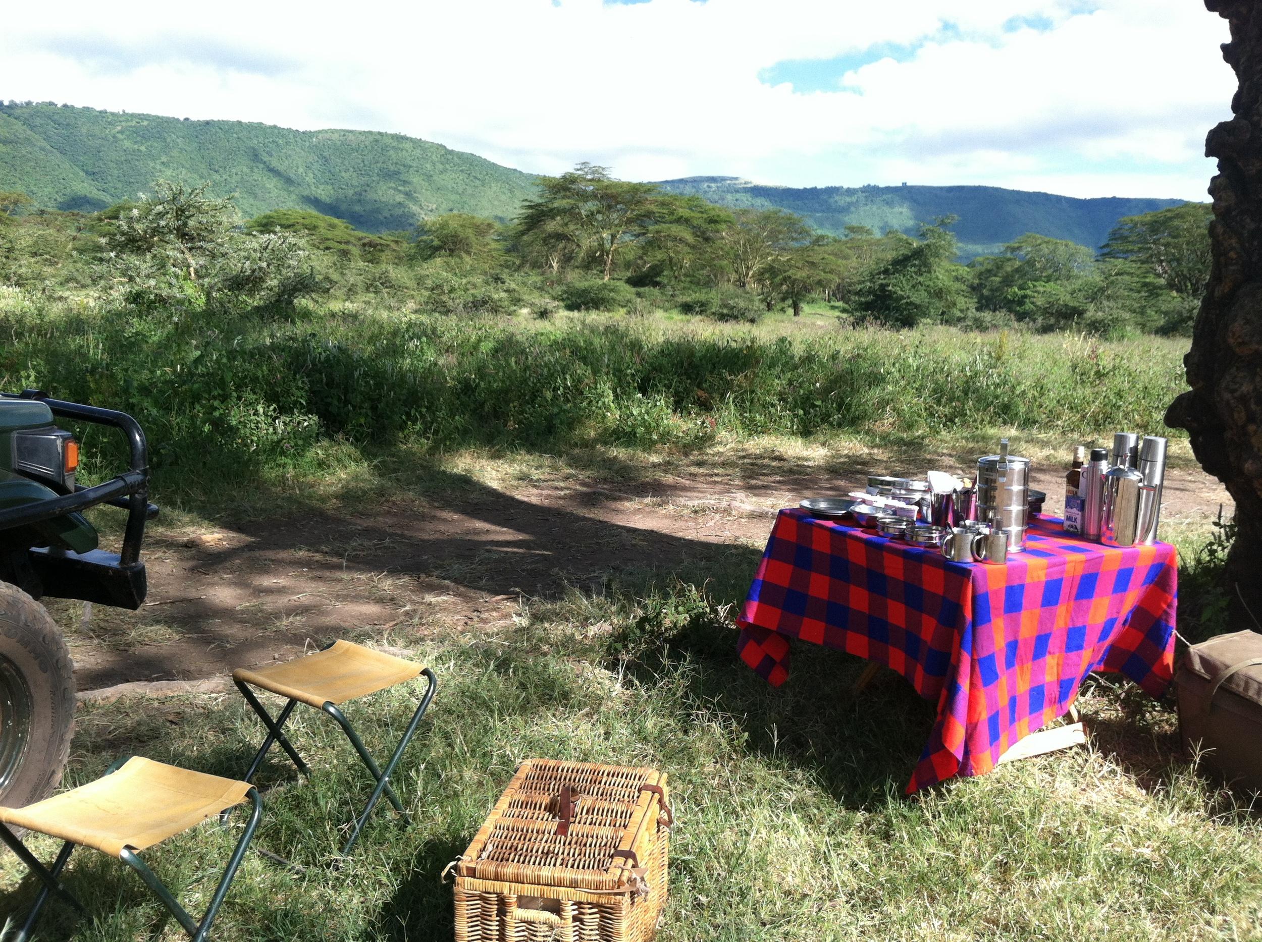 Breakfast in the Bush Tanzania.JPG