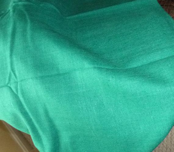 Emerald Green Linen Fabric