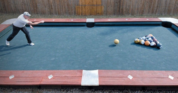 """YASSSS! I hope for the sake of puns, that this is table on top of swimming pool.. A true """"pool table."""""""