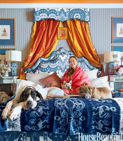 Michelle Nussbaumer Bedroom House Beautiful Blue Bed.jpg