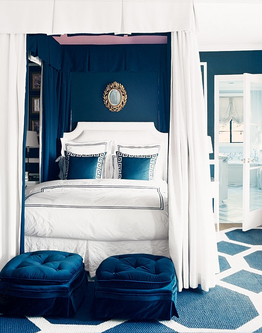 Mary McDonald Navy Bedroom Canopy Bed.jpg