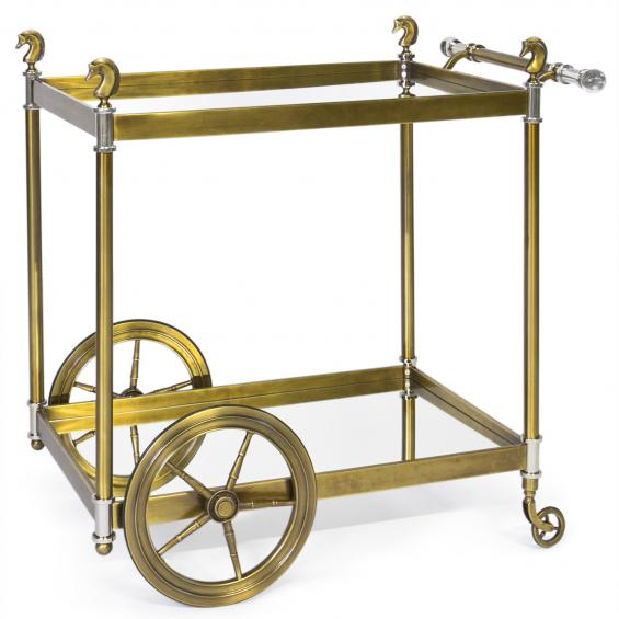 Brass Lucite Bar Cart