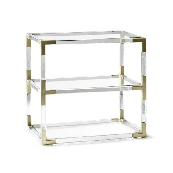 Lucite Two-Tier Side Table