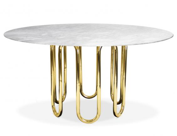 Marble Brass Dining Table
