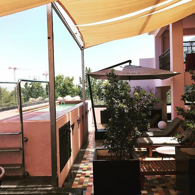 Pink pool at our hotel #poolgoals  #santiagohotel #pink #pinkpool #pinkpoolhotel