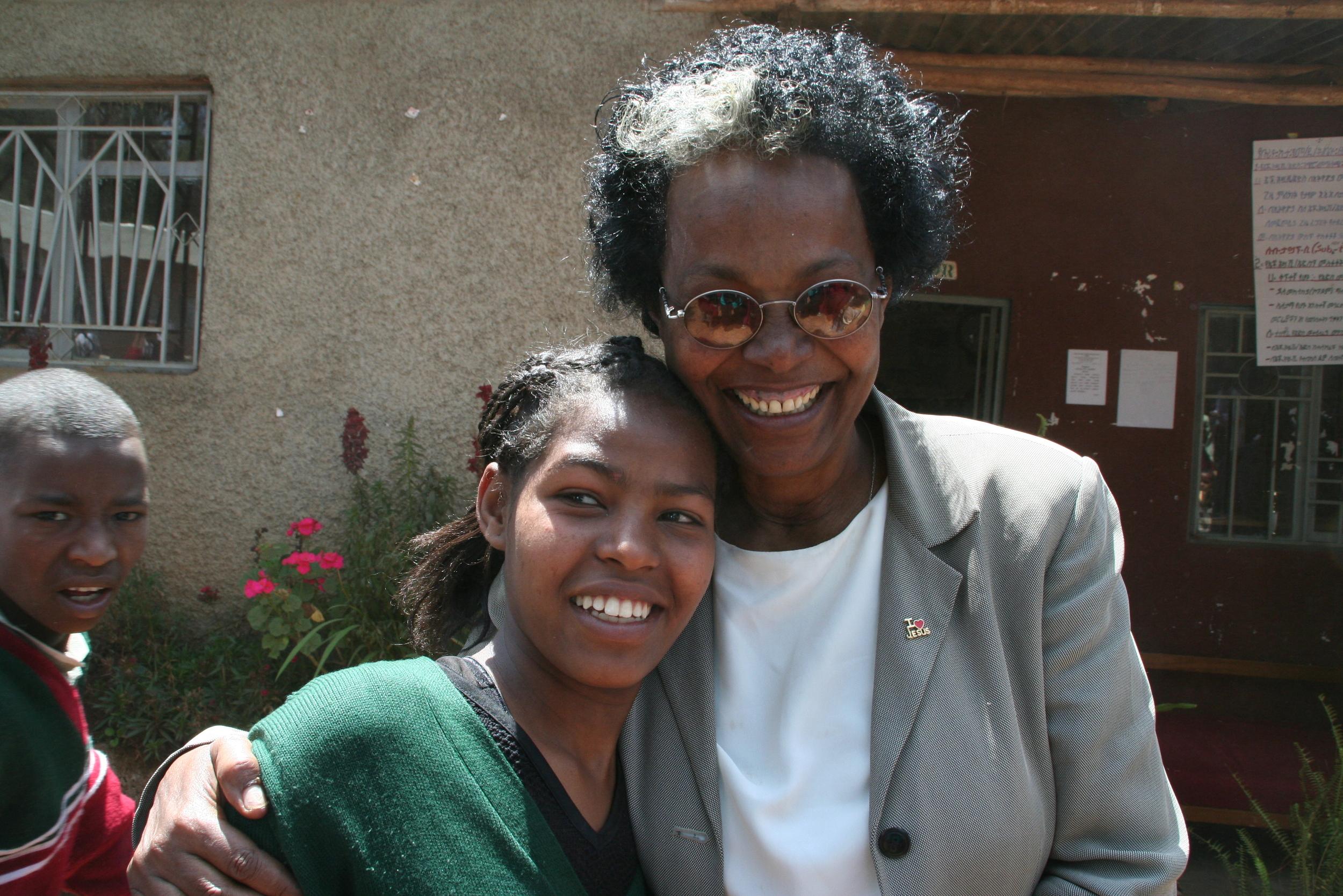 Elfinish and a REAL student at Burayu-Katta